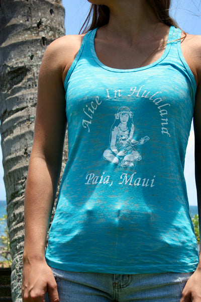 "Women's Turquoise ""OG Girl"" Burnout Tank"