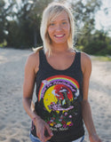 Heather Black Trip Tank