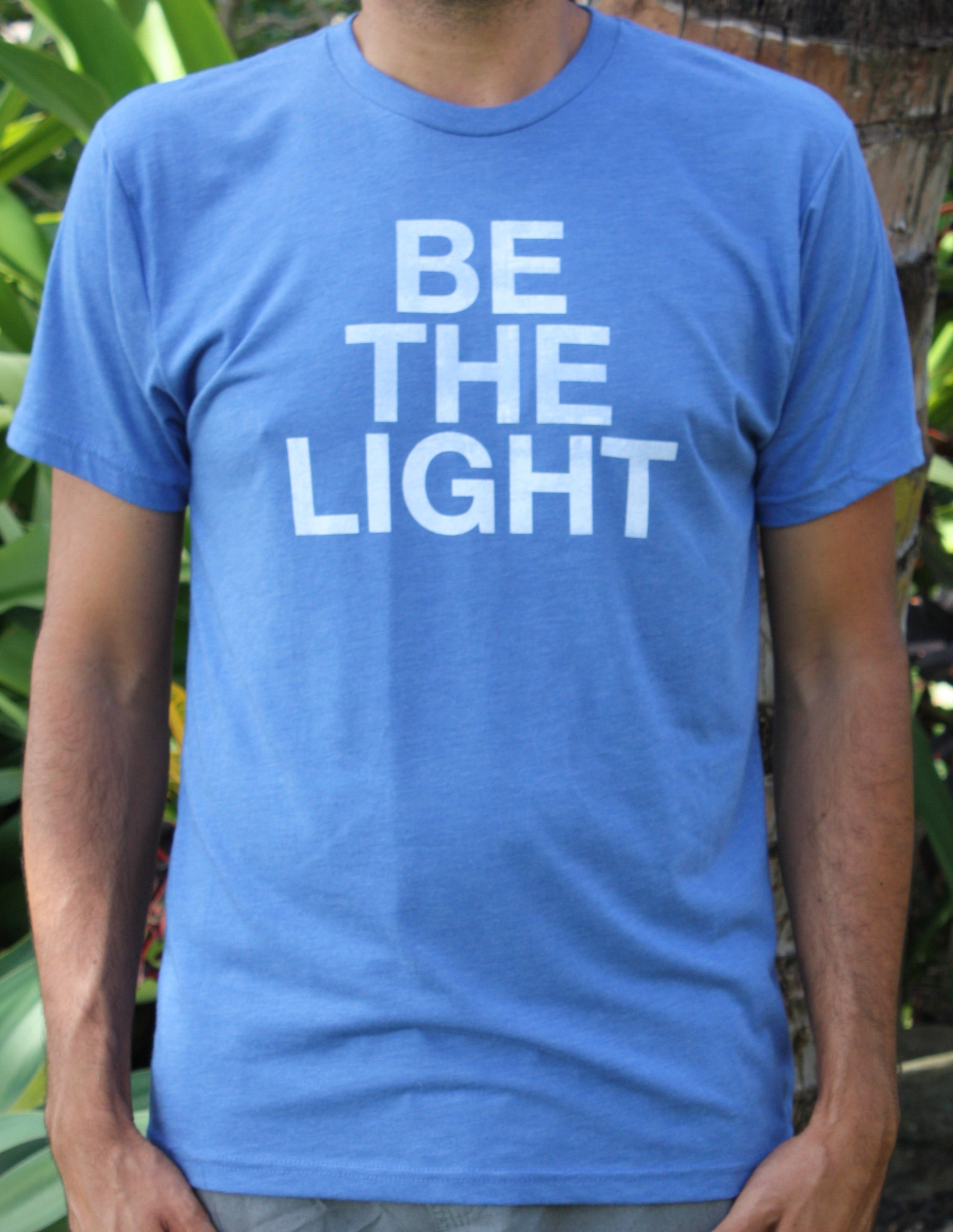 "Men's Blue ""Be the Light"" Tee"