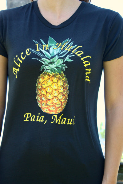 "Women's Black ""Pineapple"" Tee"
