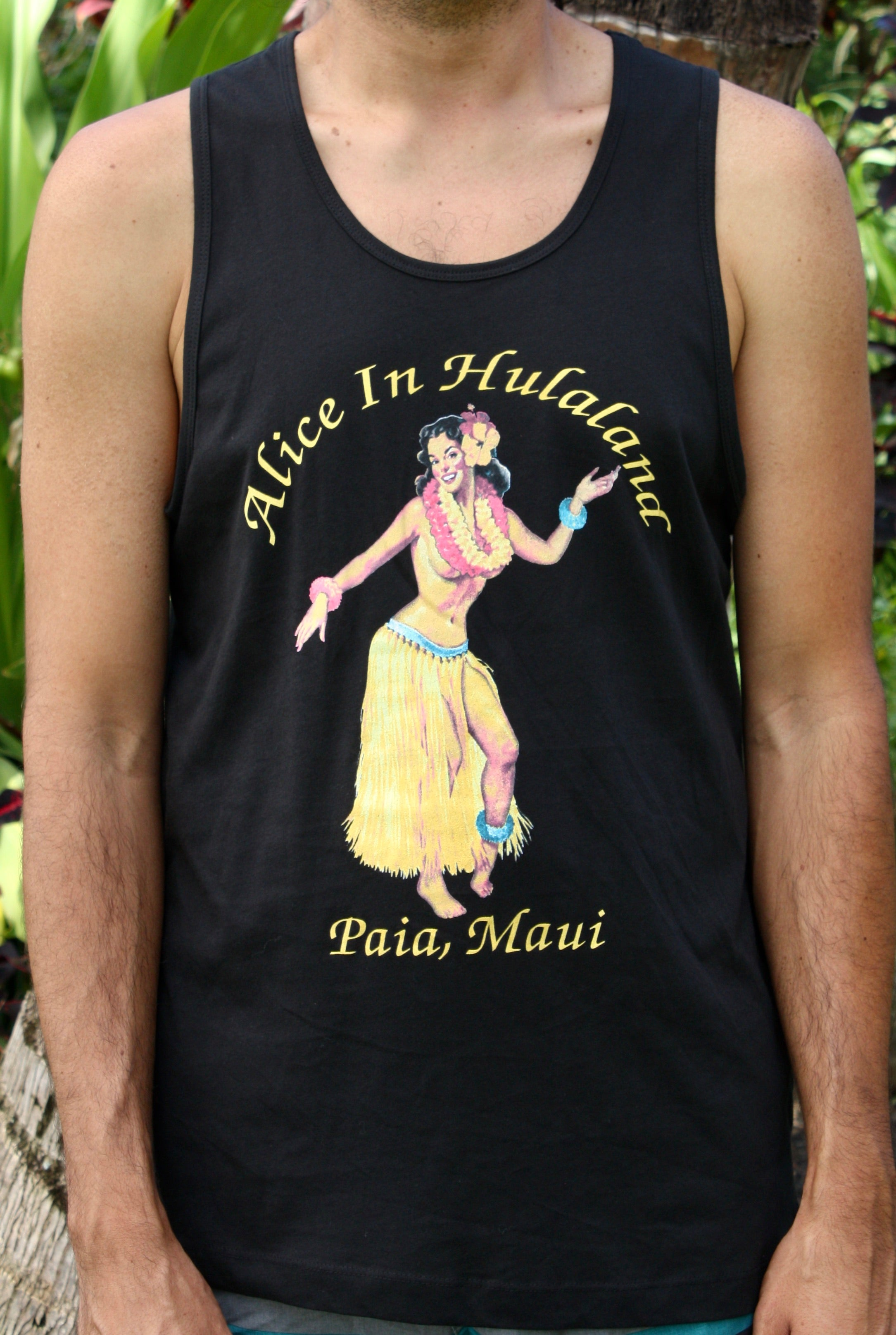 "Men's Black ""Pinup Multi-Color"" Tank"