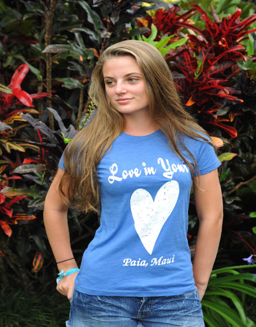 New! Blue Love in Your Heart Tee