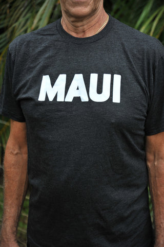 New! Heather Black Maui Tee