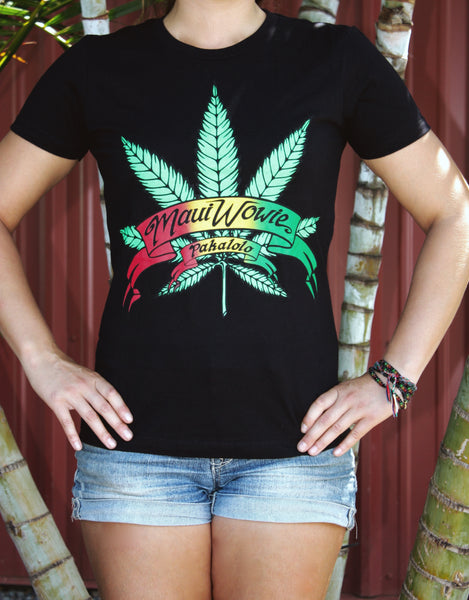 "Women's Black ""Maui Wowie"" T-Shirt"