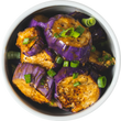 Eggplant with Miso, Ginger & Spring Onions