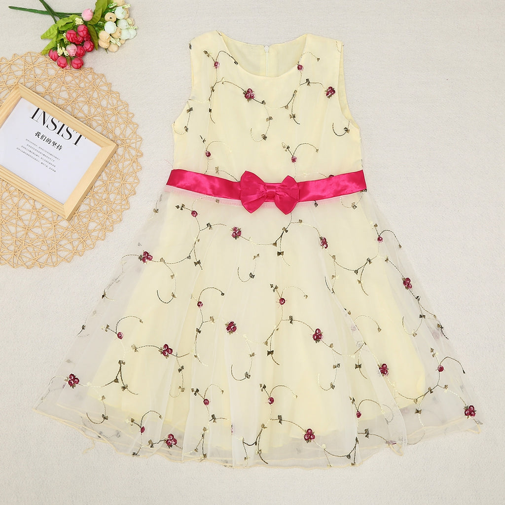 Cute Girls Summer Dress Flower Toddler Kids Princess Wedding Dresses New