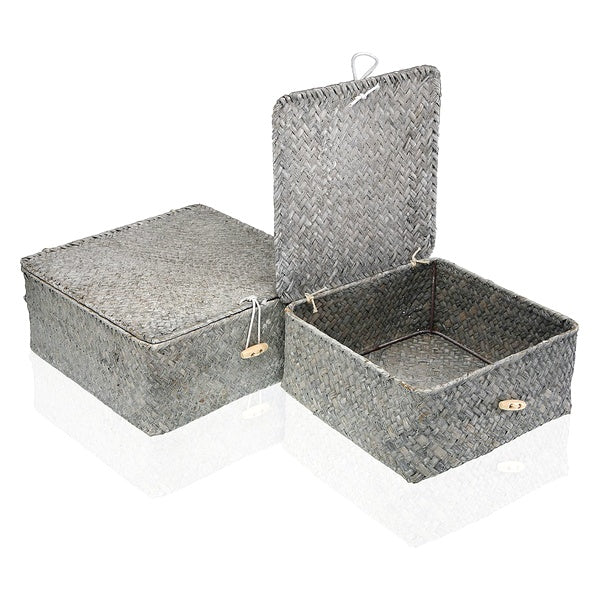 Basket set Marine algae (2 Pieces) (23 x 10 x 23 cm)