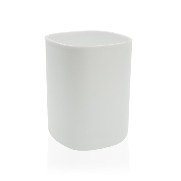 Toothbrush Holder White polypropylene (7,8 x 7,8 x 10,5 cm)