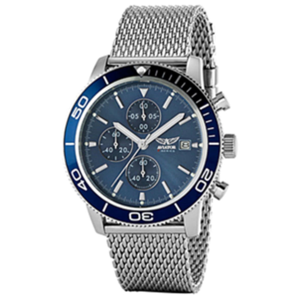 Aviator Watch AVW2070G302 Men Silver