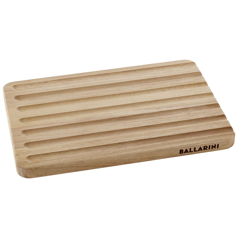 "Ballarini 18610-200 12.5"" x 8.5"" Double Side Rubberwood Cutting Board 
