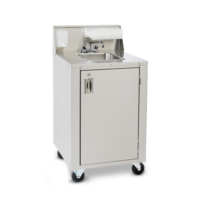 Crown Verity CV-PHS-4 Hot/Cold Portable Space Saver Hand Sink | Kitchen Equipped