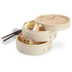 Zen Cuizine Bamboo Steamer 8"