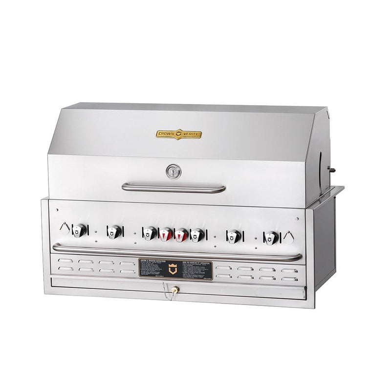 "Crown Verity BI-48 48"" Built-In BBQ Grill with Roll Dome Package - Natural Gas 