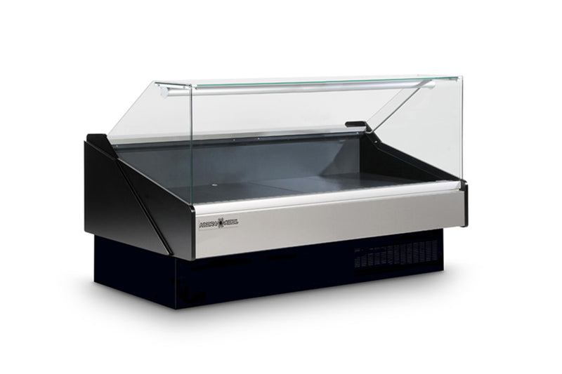 Fresh Meat Case Flat Glass - KFM-FG-80-S | Kitchen Equipped
