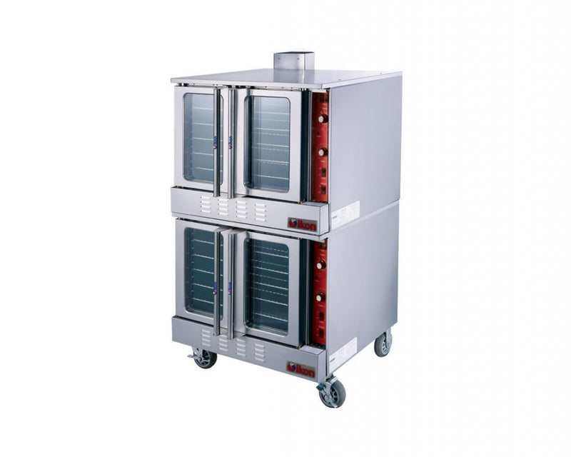 Double stack gas convection oven