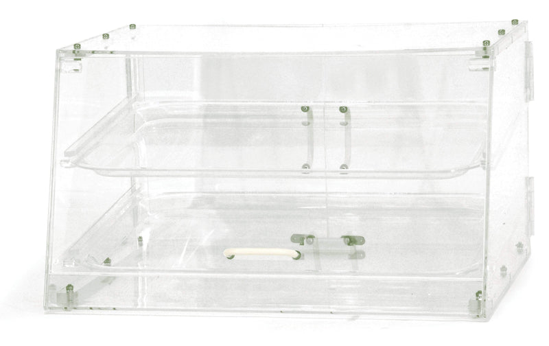 "Omcan - 2 Tray Bakery Display Case with Front and Rear Doors - 20"" Wide"