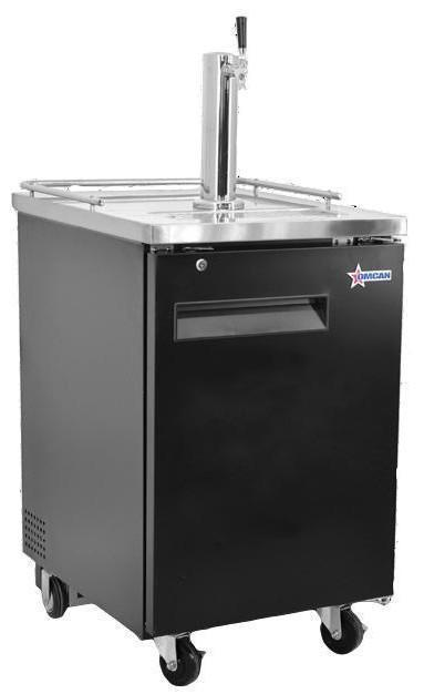 "Omcan BD-CN-0007-HC - 23"" One Door Bar Cooler with One Beer Dispenser - 1 Keg 