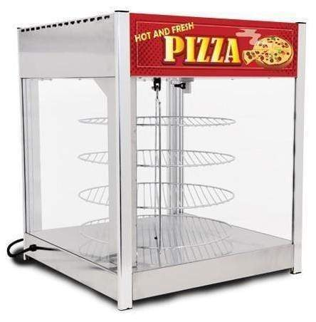 "Omcan DW-CN-0457-SS - Pizza Display Warmer with Four 18"" Rotating Racks 