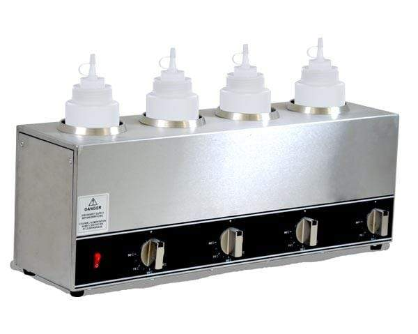 Omcan FW-CN-1604 - Four Bottle Topping Warmer | Kitchen Equipped