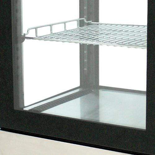 "Omcan RS-CN-0078 - 17"" Countertop Full Service Refrigerated Display Case - 2 Cu. Ft."