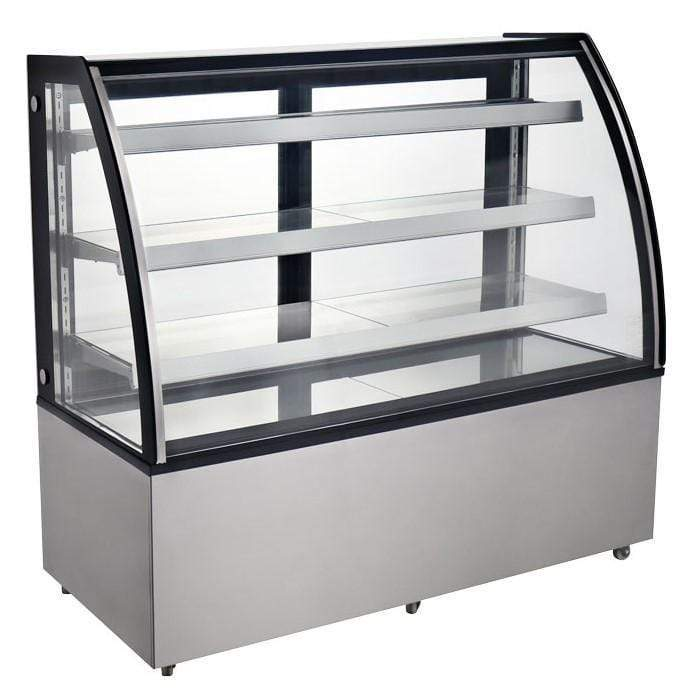 "Omcan RS-CN-0571 - 72"" Floor Model Full Service Refrigerated Display Case - 22.9 Cu. Ft. 