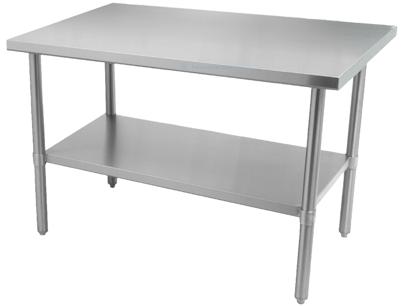 "Thorinox - ALL Stainless Steel Work Table with Undershelf - 24"" Deep 