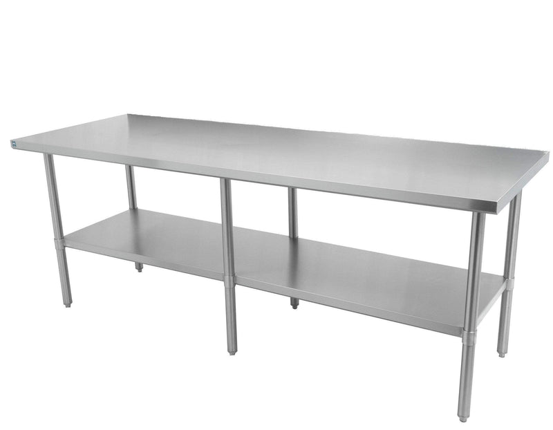 "Thorinox - ALL Stainless Steel Work Table with Undershelf - 24"" Deep"