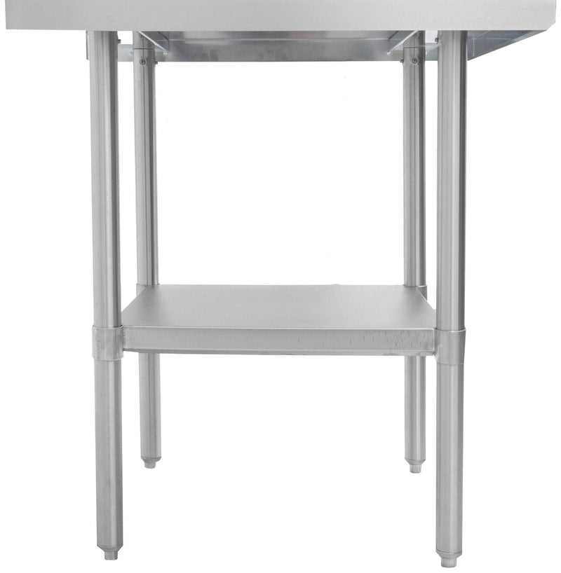 "Thorinox - ALL Stainless Steel Work Table with Undershelf - 30"" Deep"
