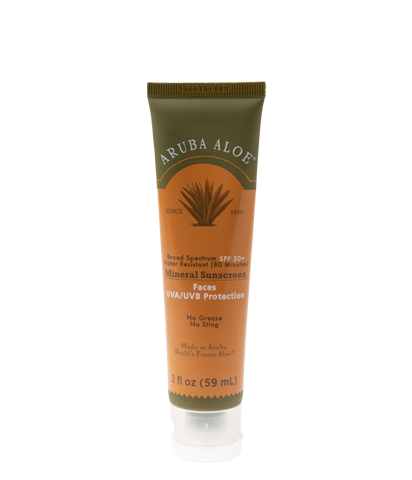 Mineral Sunscreen Faces Broad Spectrum Water Resistant SPF50+