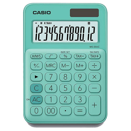 Calculadora Mini de Escritorio - CASIO MS-20UC-GN