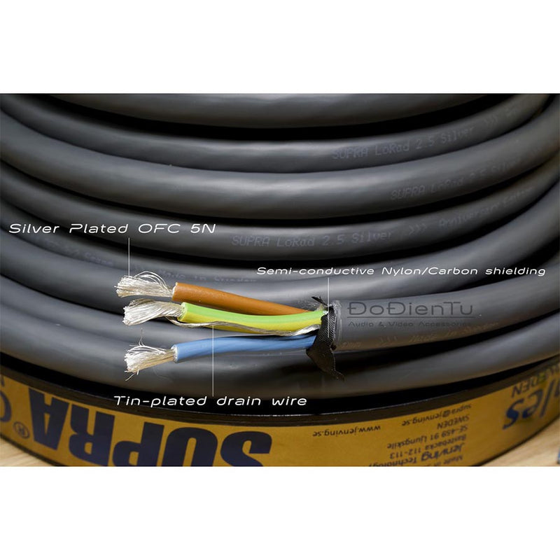 LoRad 3x2.5 BLUE B50 Bulk Power Cable