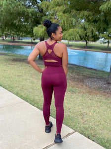 Burgundy Yoga Set