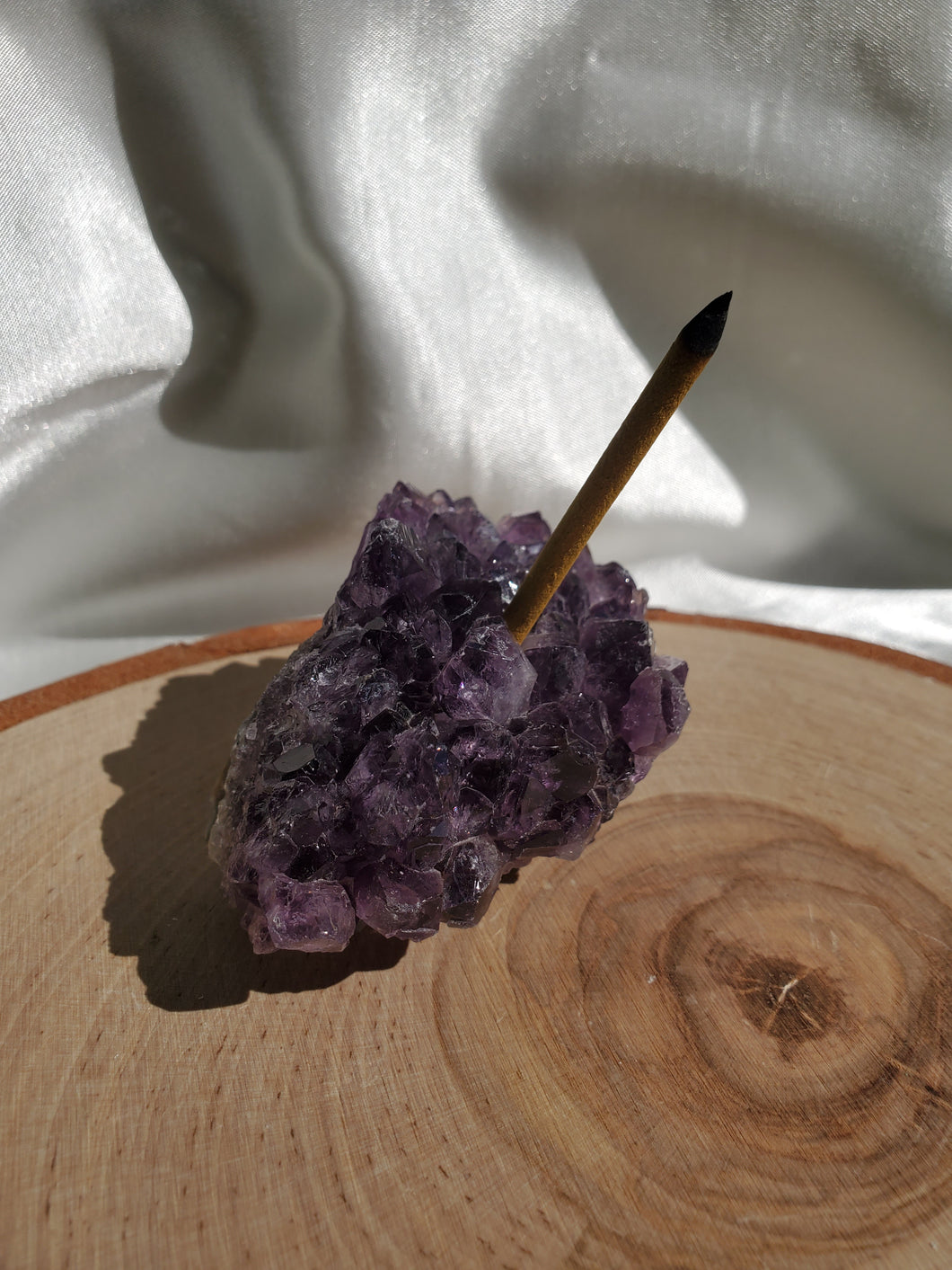 Amethyst Incense Burner