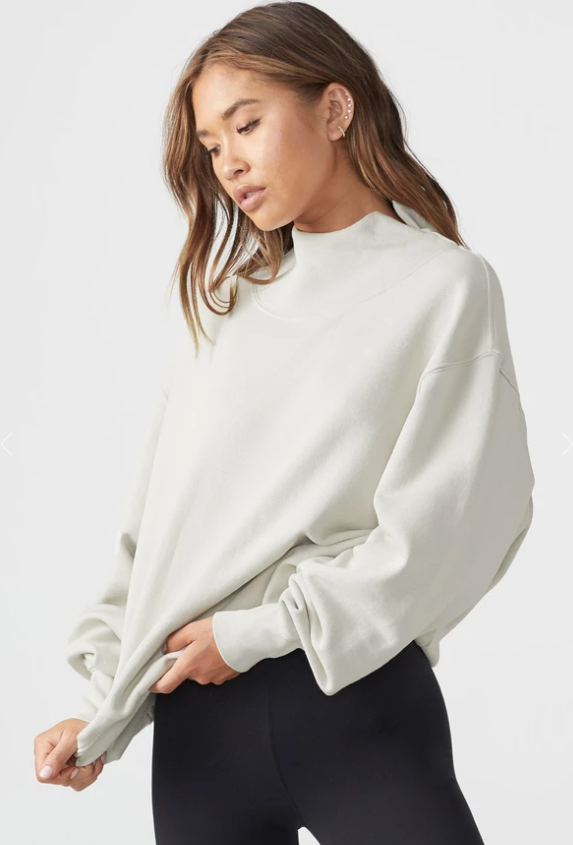 Oversized Turtleneck Sweatshirt