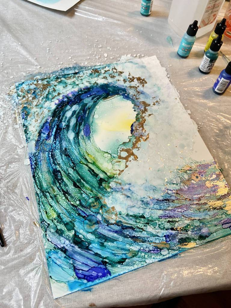 Private 1 hour Fluid Art Lesson Coaching Reserved for Laci Adelle