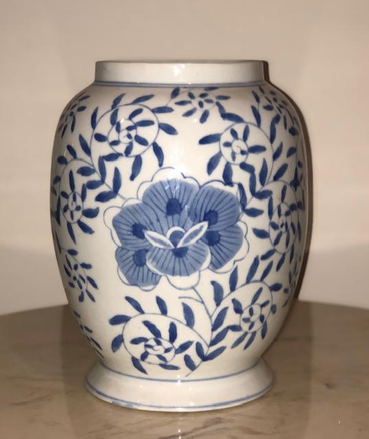 Hand Painted Chinese Blue & White Vase Vase Delightful Discoveries by SnS