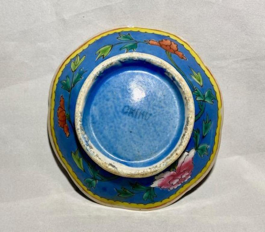 Blue Ground Famille Rose Porcelain Bowl Ceramics Delightful Discoveries by SnS