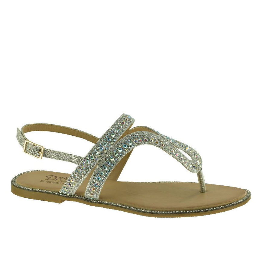Style Diva Silver Rhinestone Flip flop Sandal Shoes Wedding Tennies & Formal Shoes