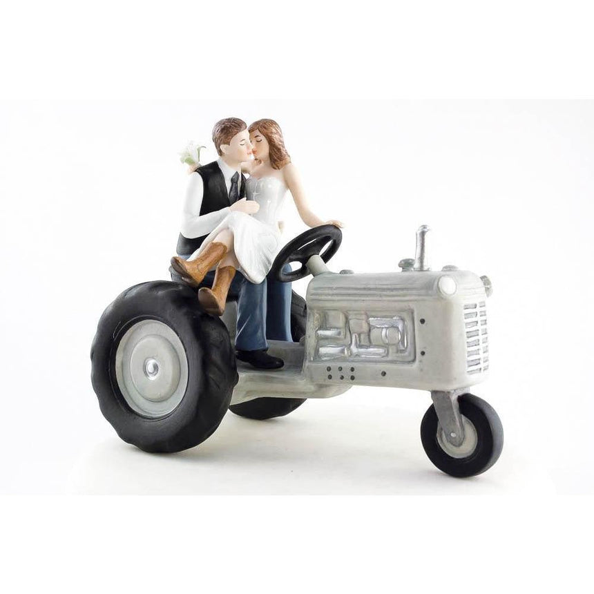 Tractor Western Cake Topper Porcelain Figurines (Heavy) Wedding Collectibles