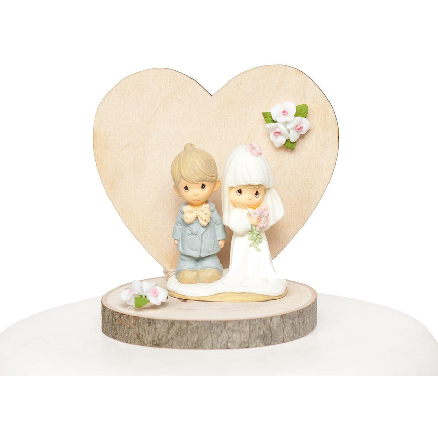 Precious Moments Rustic Wedding Cake Topper Wood Cake Toppers (Light) Wedding Collectibles