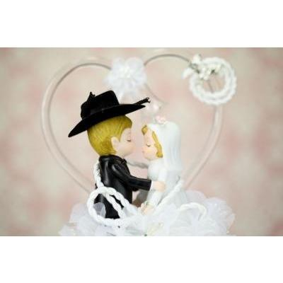 Western Cowboy Lasso Wedding Cake Topper Traditional Cake Toppers (Heavy) Wedding Collectibles