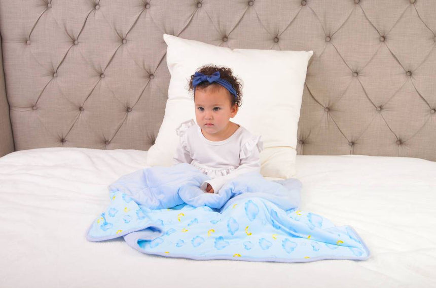 Little Bloombell | Sky Baby/Toddler Bamboo Blanket | Preorder for March 10th