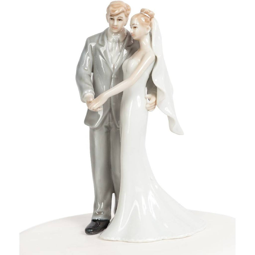 Elegant Porcelain Wedding Bride and Groom Porcelain Figurines (Light) Wedding Collectibles