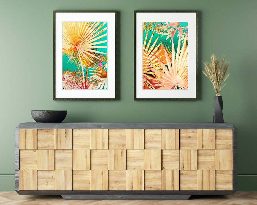 Origami Palms, SET OF 2 PRINTS, 16x20 inch. Home Delphine B Photography