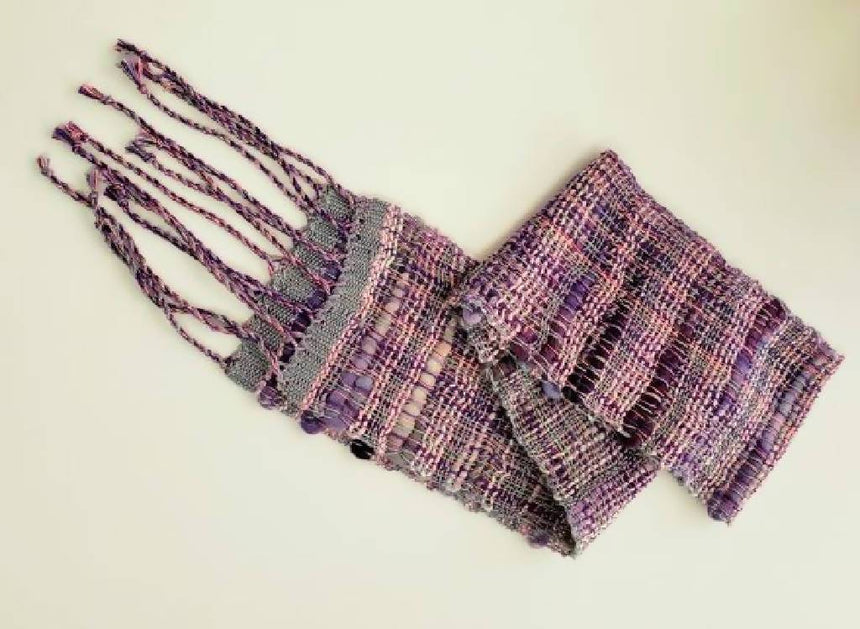 Scarf - Luv all Lavenders - Handwoven Bamboo Handwoven Bamboo Scarf Luv all Lavenders Iron Springs Weaving