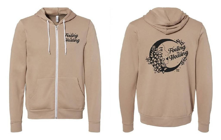 Feeling is Healing Zip Up Shirts Penny Puede XS