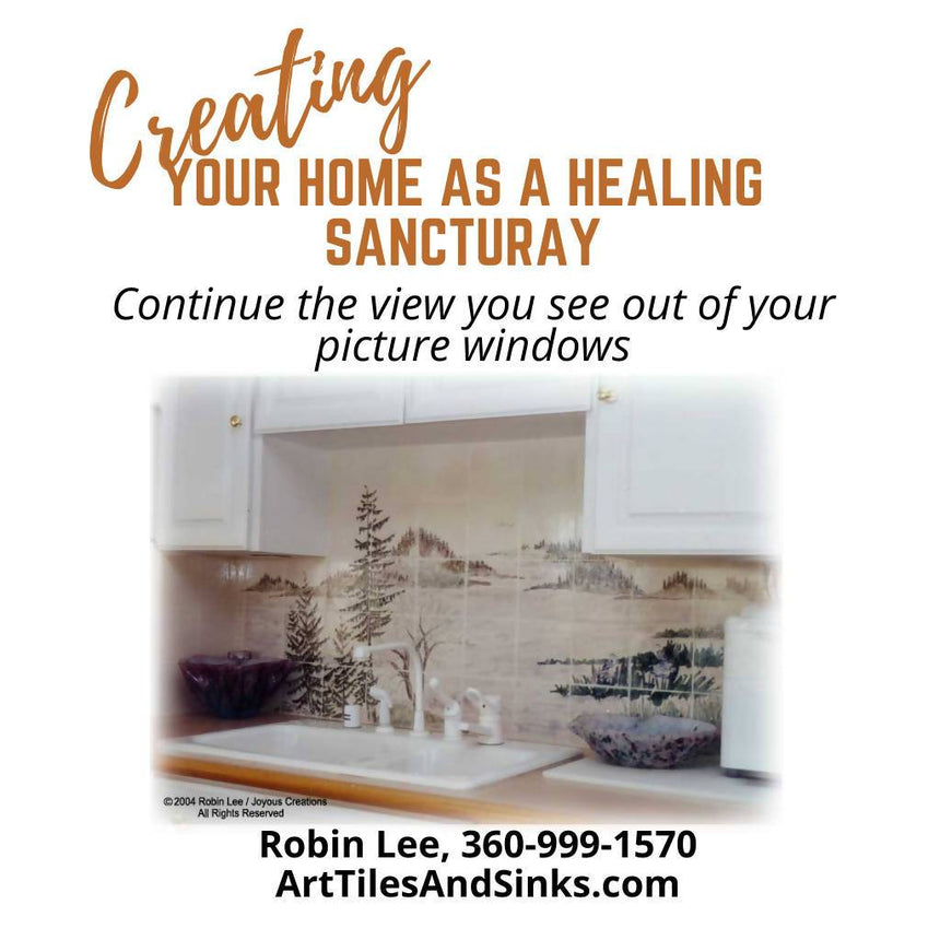 Art Tiles & Sinks Custom Designed to Create Your Home as a Healing Sanctuary