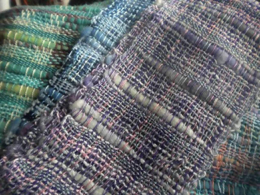 Scarf - Luv all Lavenders - Handwoven Bamboo