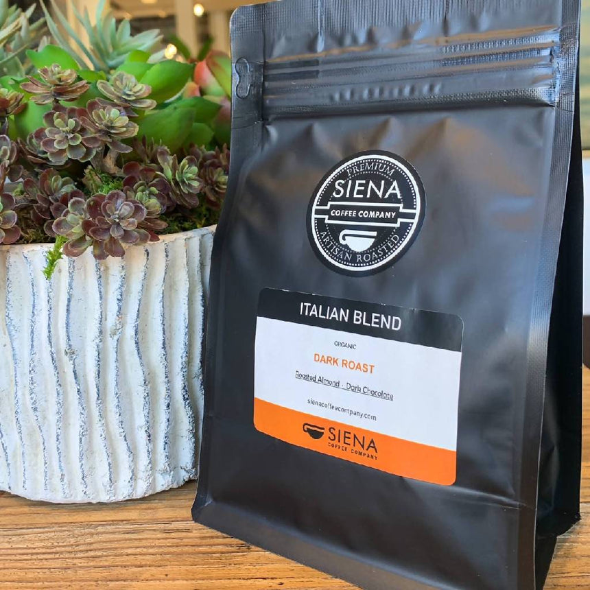 Italian Blend, Organic Dark Roast Food, Coffee Siena Coffee Company