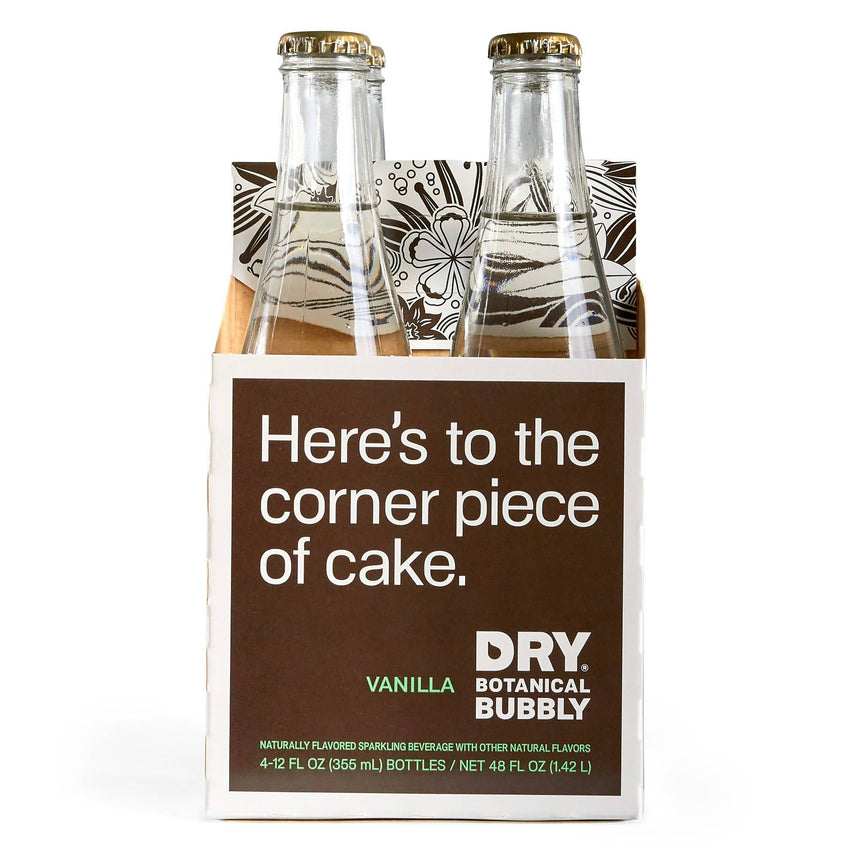 DRY Vanilla Botanical Bubbly - 12 Pack Bottles - Free Shipping Beverage Dry Botanical Bubbly